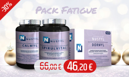Le pack Fatigue : Élimine les toxines de l'organisme, aide à retrouver vitalité et sommeil naturel.