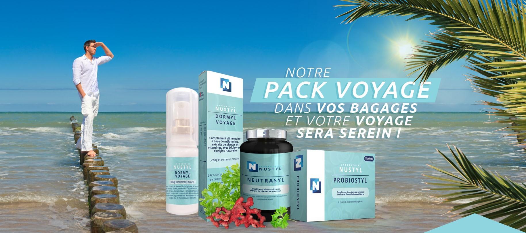 Le Laboratoire Nustyl vous présente le Pack Voyage